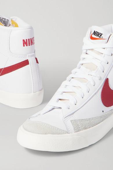 Nike | Baskets montantes en cuir à finitions en daim Blazer