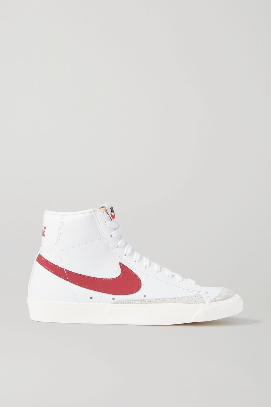 Nike Blazer Mid 77 Vintage suede-trimmed leather high-top sneakers
