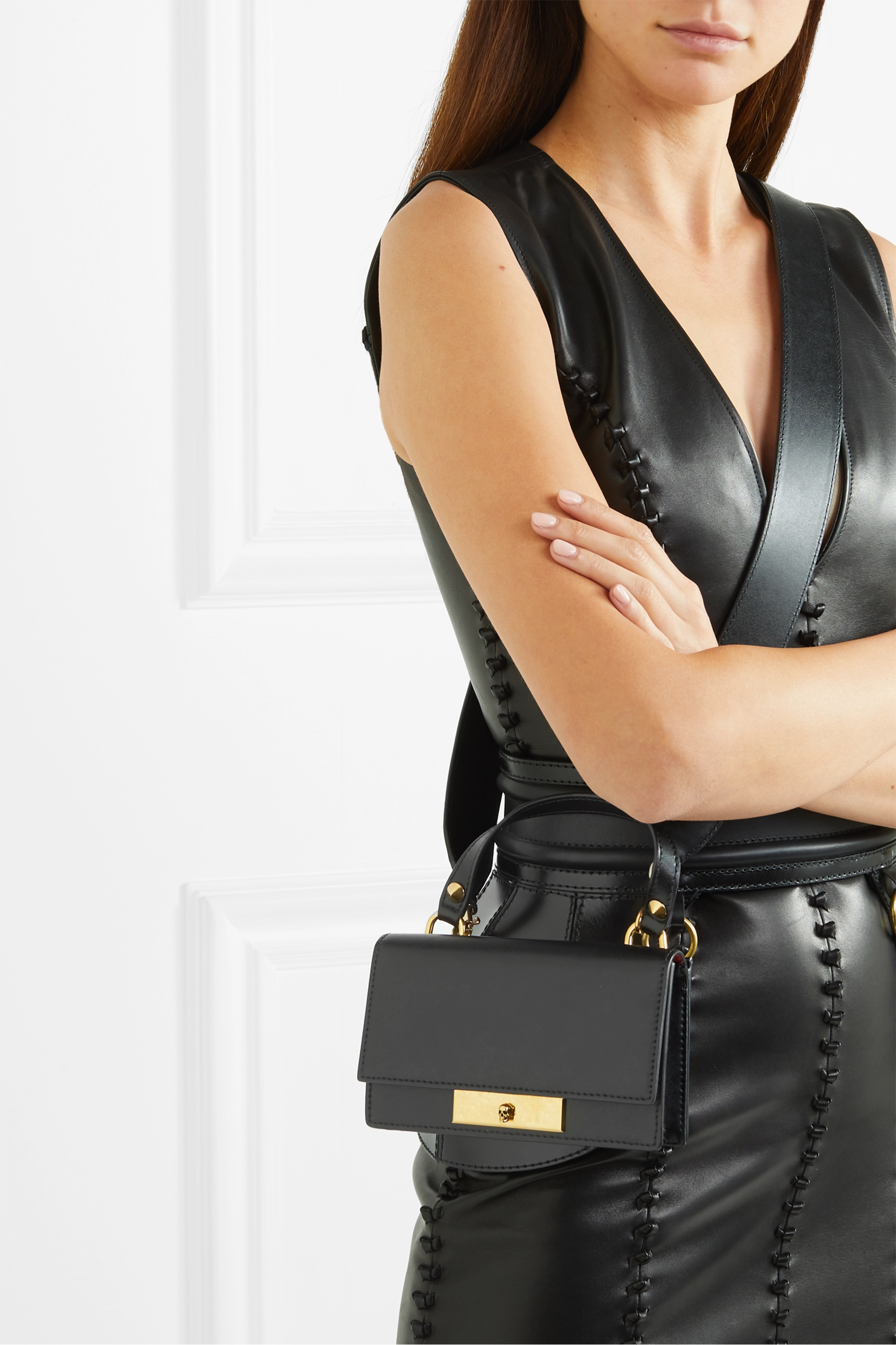 Alexander McQueen Small leather shoulder bag