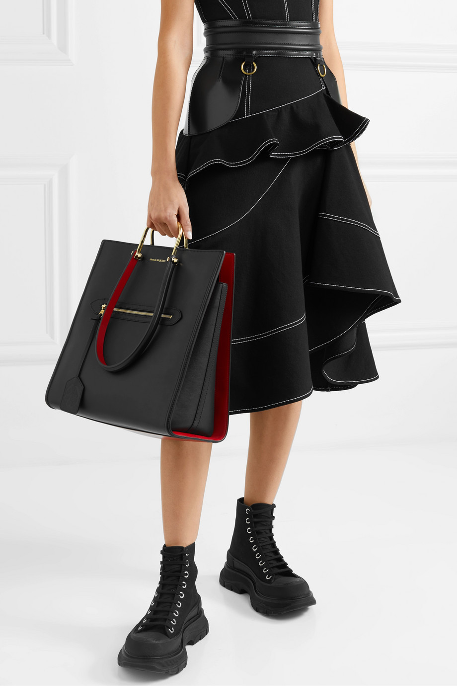 Alexander McQueen The Story two-tone leather tote