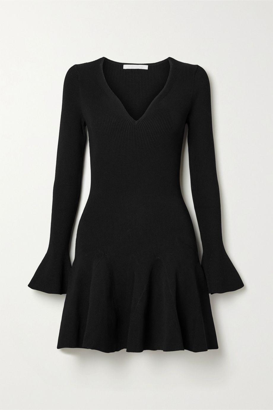 Jonathan Simkhai Fluted ribbed-knit mini dress