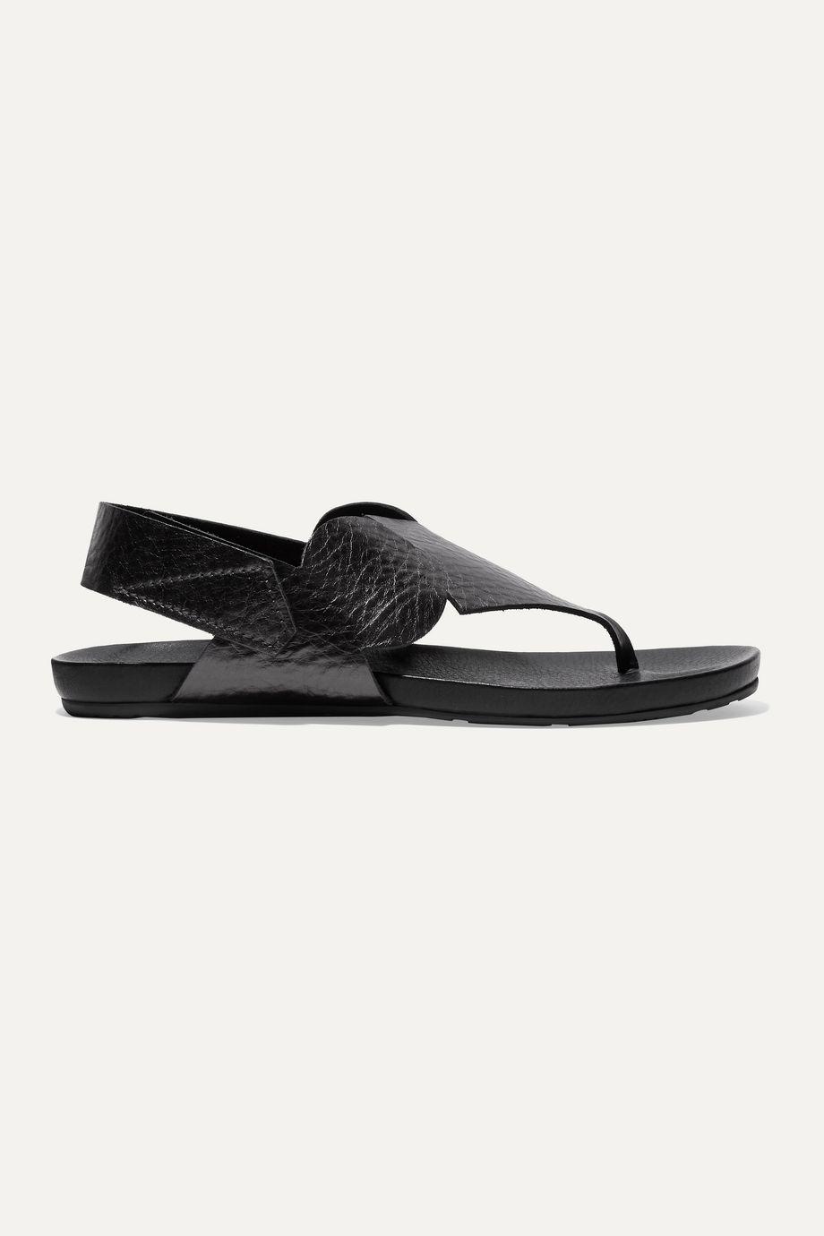 Pedro Garcia Josefa metallic textured-leather slingback sandals