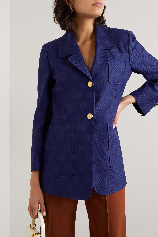 Gucci Appliquéd wool and silk-blend jacquard blazer