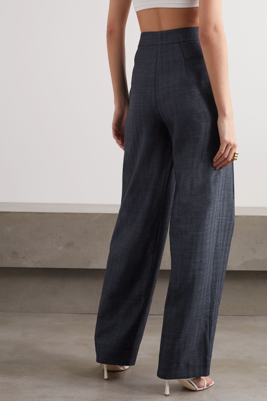 Georgia Alice Bobby metallic denim tapered pants