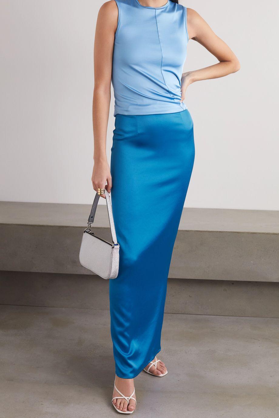 Georgia Alice Satin maxi skirt