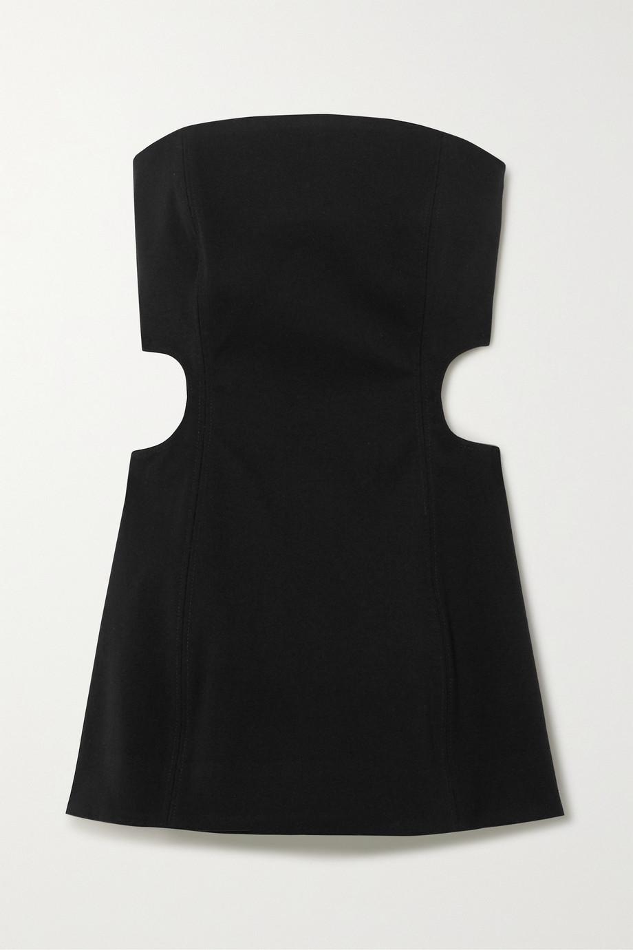 Georgia Alice Lucia strapless cutout crepe mini dress