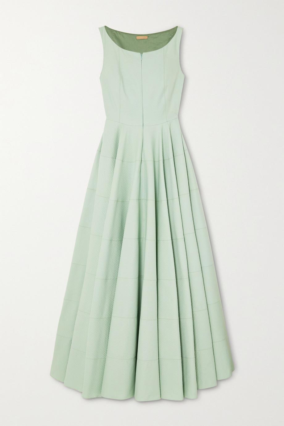Alaïa Cotton-jacquard midi dress