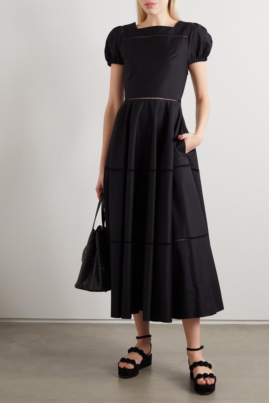 Alaïa Cotton-poplin midi dress