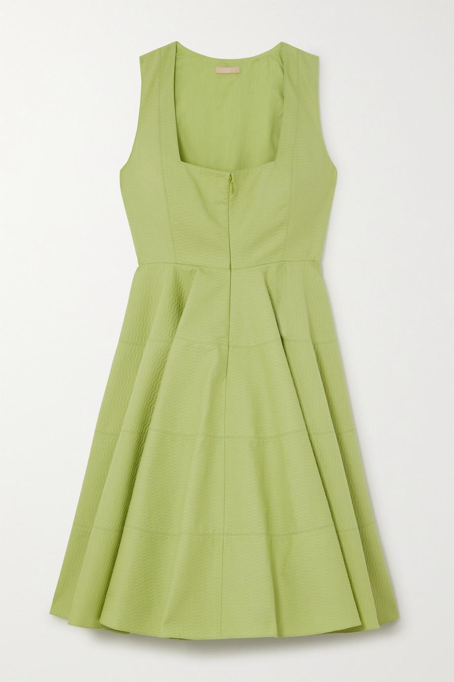 Alaïa Pleated cotton-jacquard mini dress