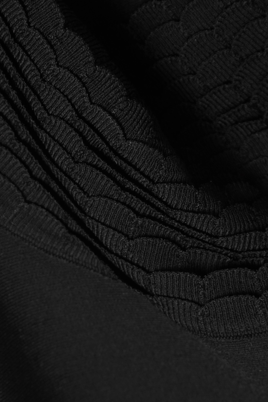 Alaïa Midikleid aus Stretch-Strick mit Wellenkanten