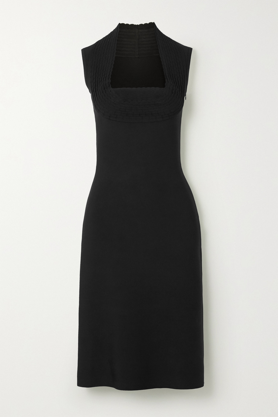 Alaïa Scalloped stretch-knit midi dress