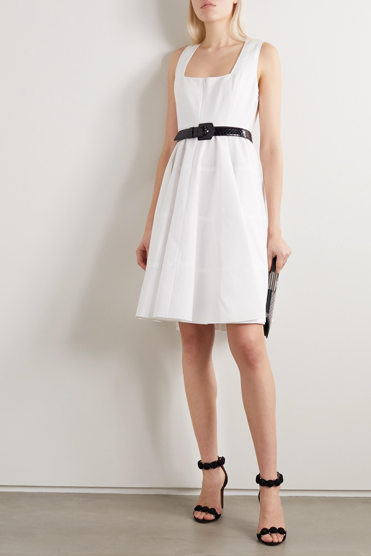 Alaïa Mini-robe en jacquard de coton à plis