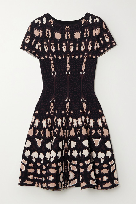 Brown Jacquard-knit dress | Alaïa yCXAgJ