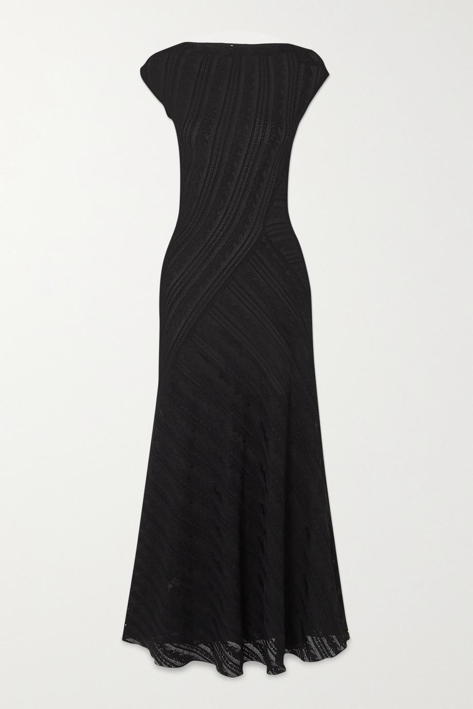 Alaïa Stretch-lace maxi dress