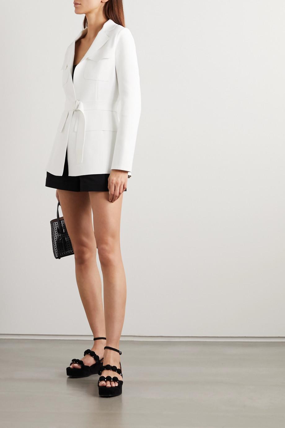 Alaïa Belted stretch-knit jacket