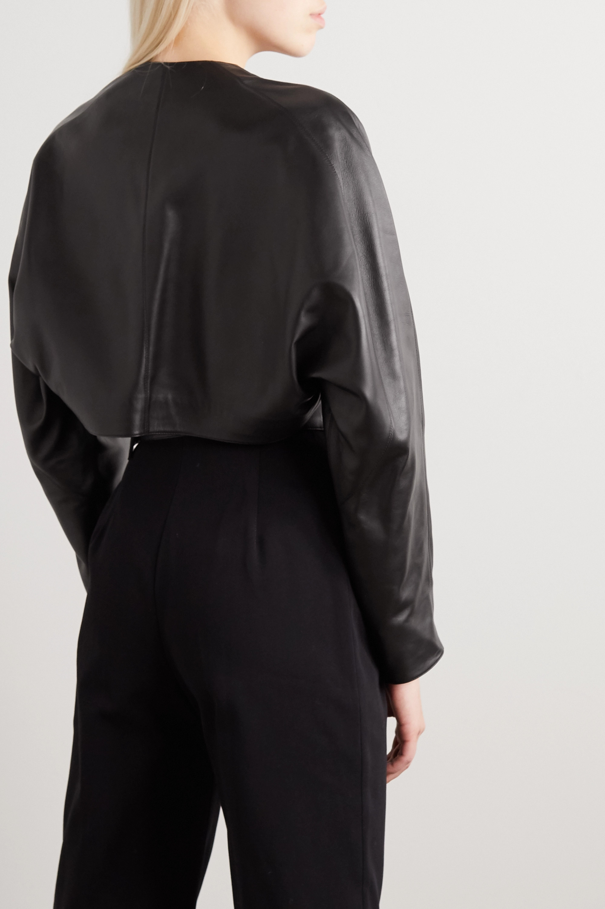 Alaïa Cropped cutout leather jacket
