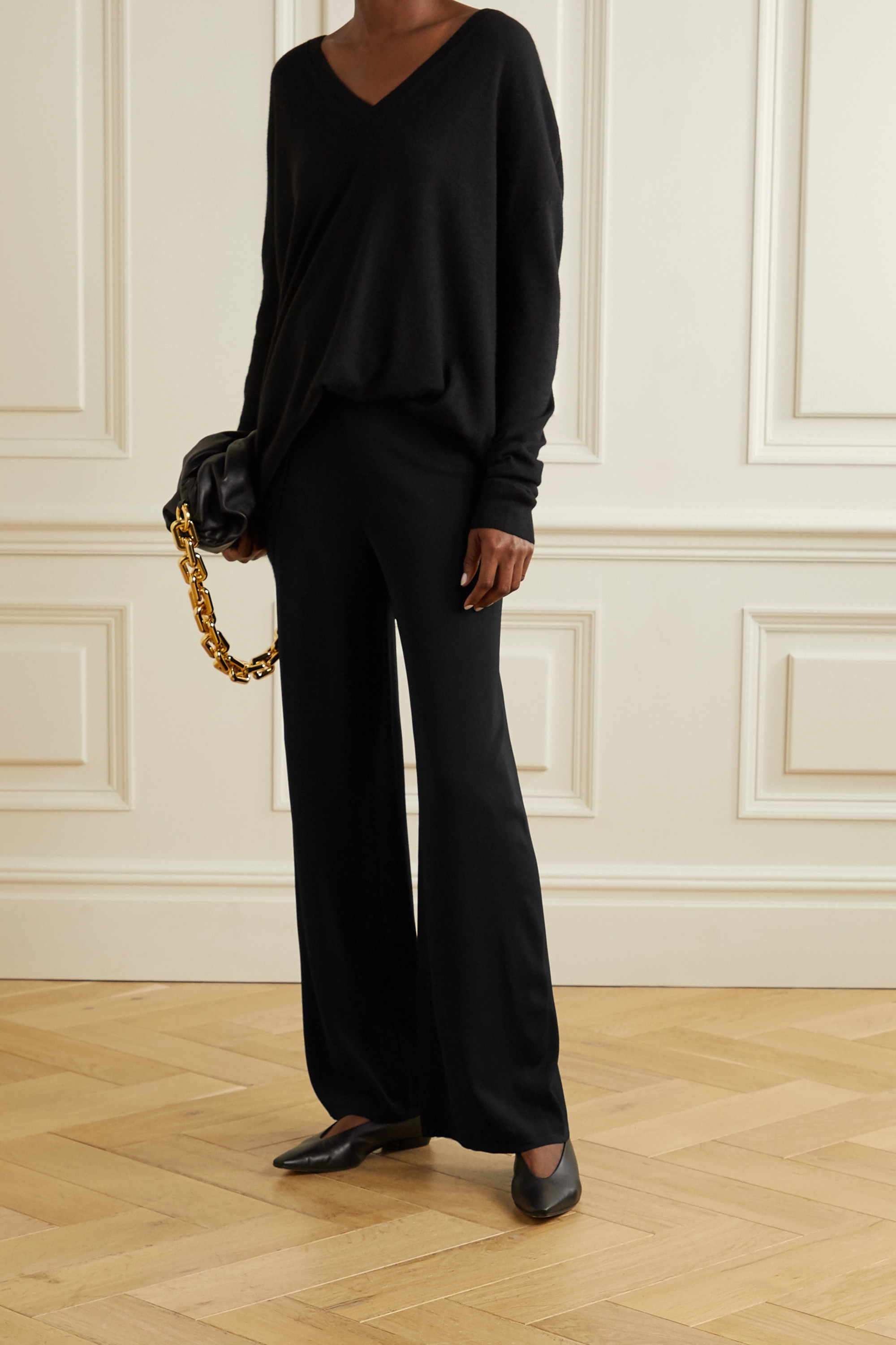 Alaïa Crepe wide-leg pants