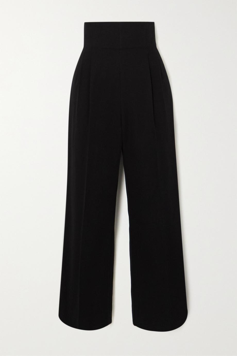 Alaïa High-rise cotton-gabardine straight-leg pants
