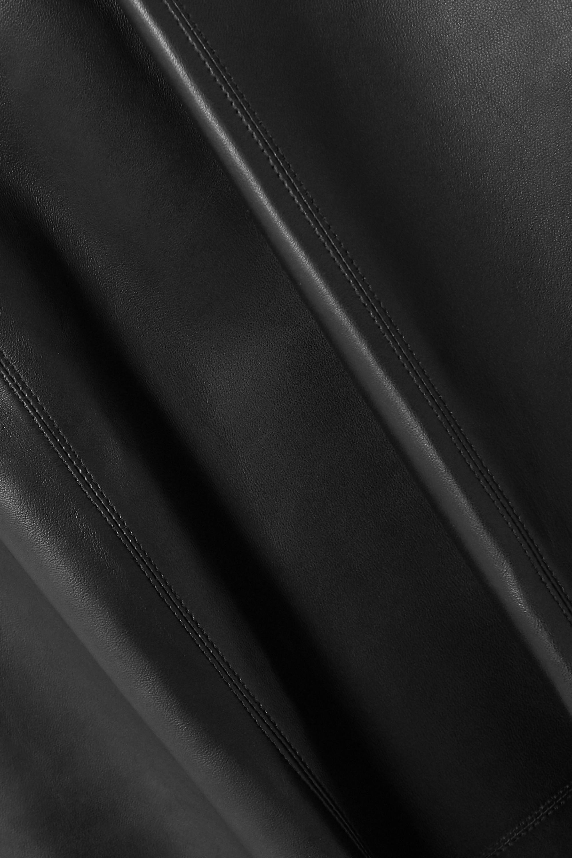 Alaïa Midirock aus Leder mit Wickeleffekt