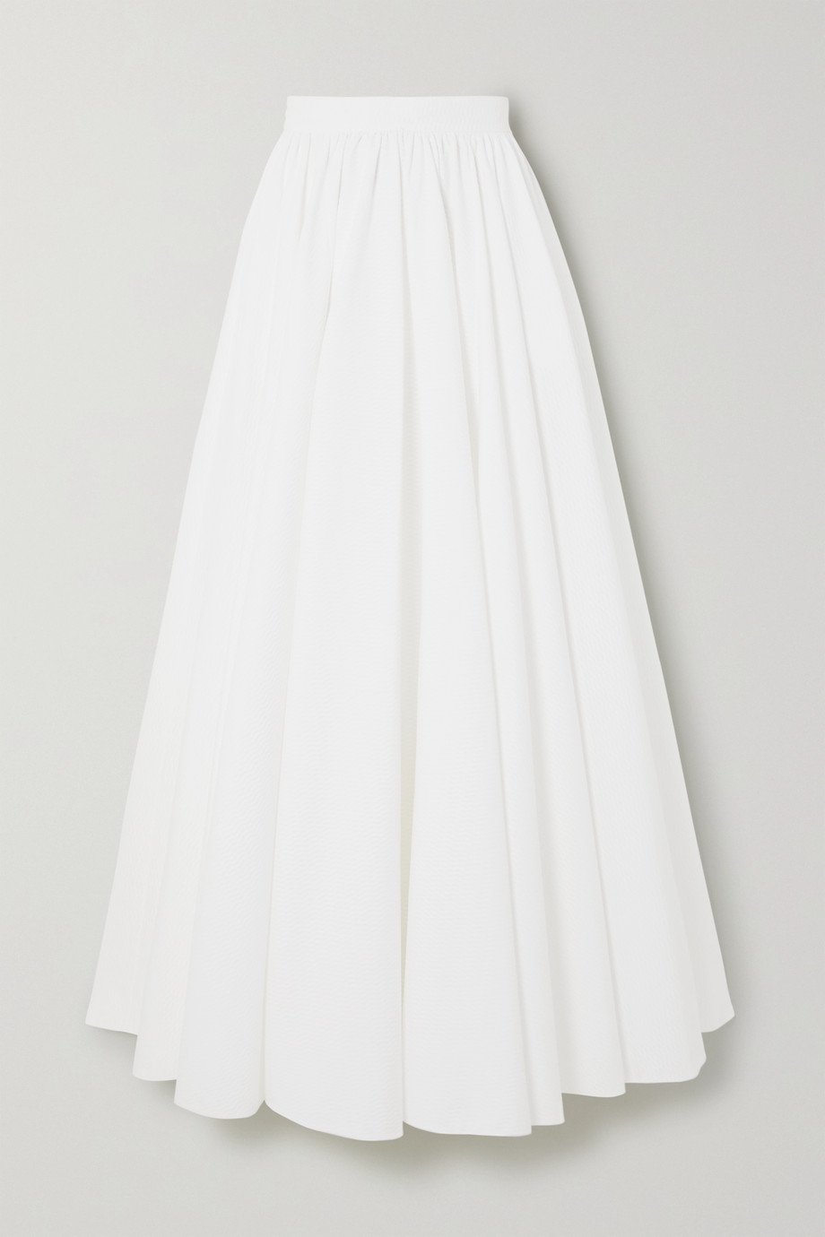 Alaïa Pleated cotton-jacquard maxi skirt