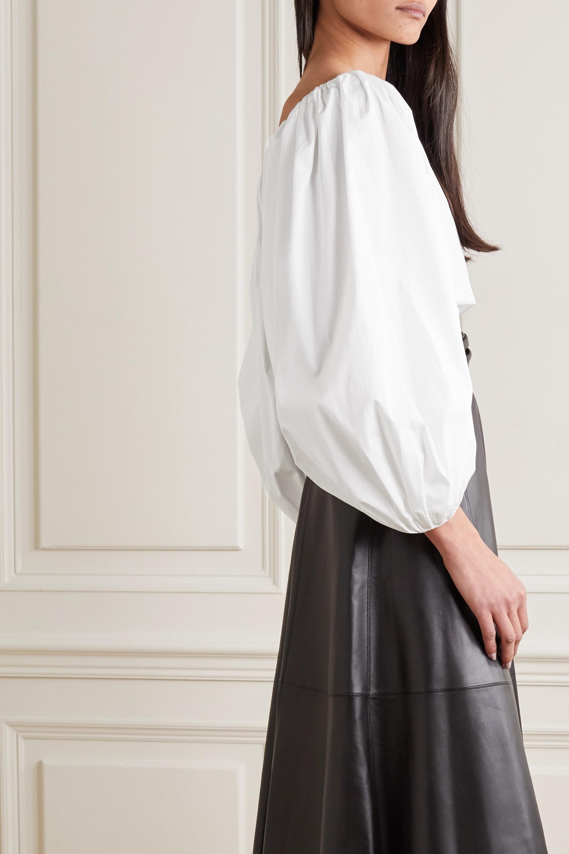 Alaïa Schulterfreie Bluse aus Baumwollpopeline