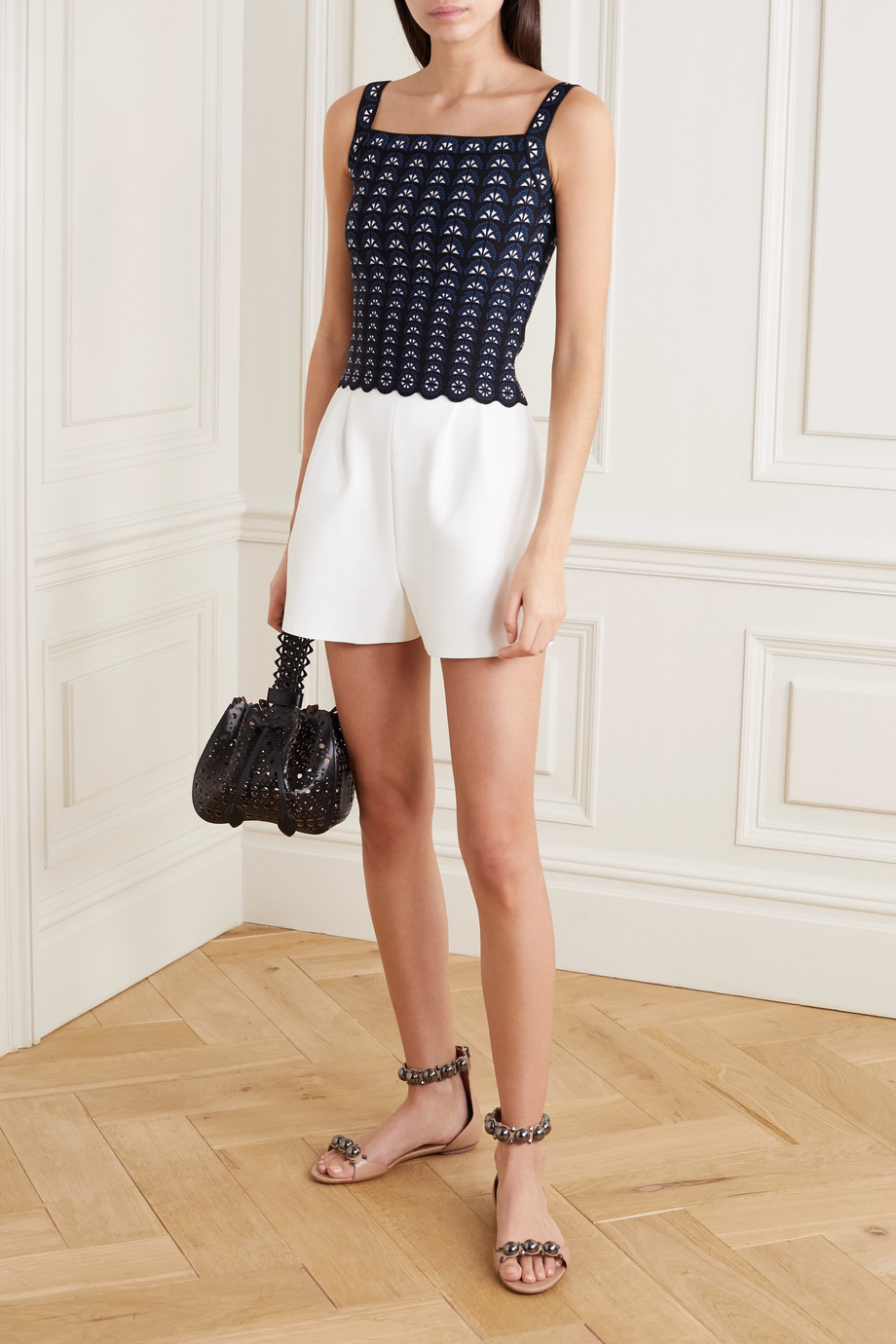 Alaïa Stretch jacquard-knit top