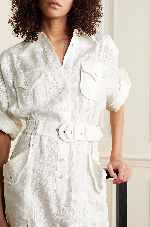 Zimmermann Super Eight belted linen jumpsuit