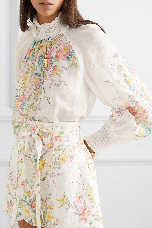 Zimmermann Zinnia Oberteil aus Ramie mit Blumenprint