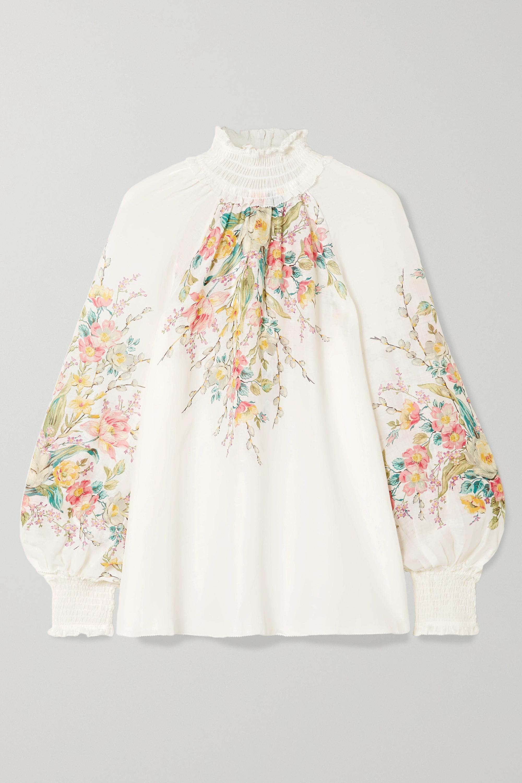 Zimmermann Zinnia floral-print ramie top