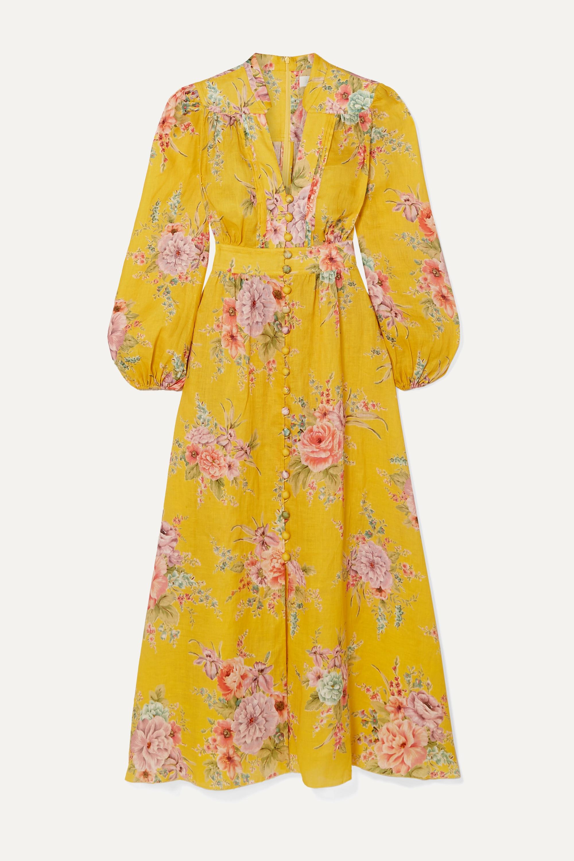 Zimmermann Zinnia floral-print linen midi dress