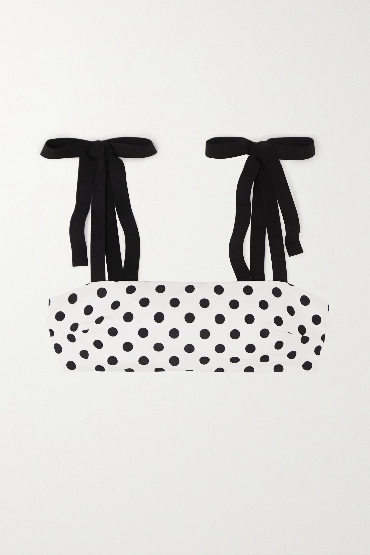 Zimmermann Haut de bikini à pois et à nœuds