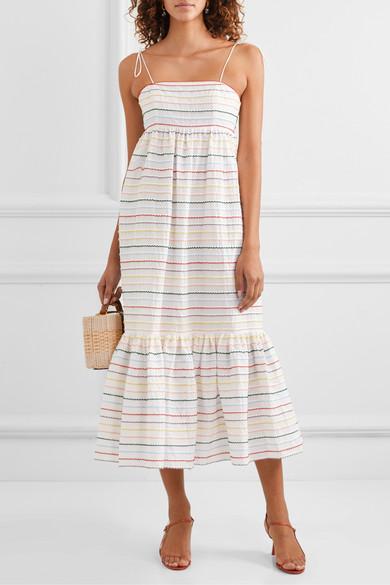Zimmermann Dresses Zinnia embroidered cotton-voile midi dress