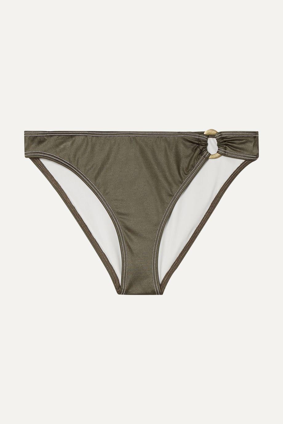 Solid & Striped The Mimi coated stretch bikini briefs