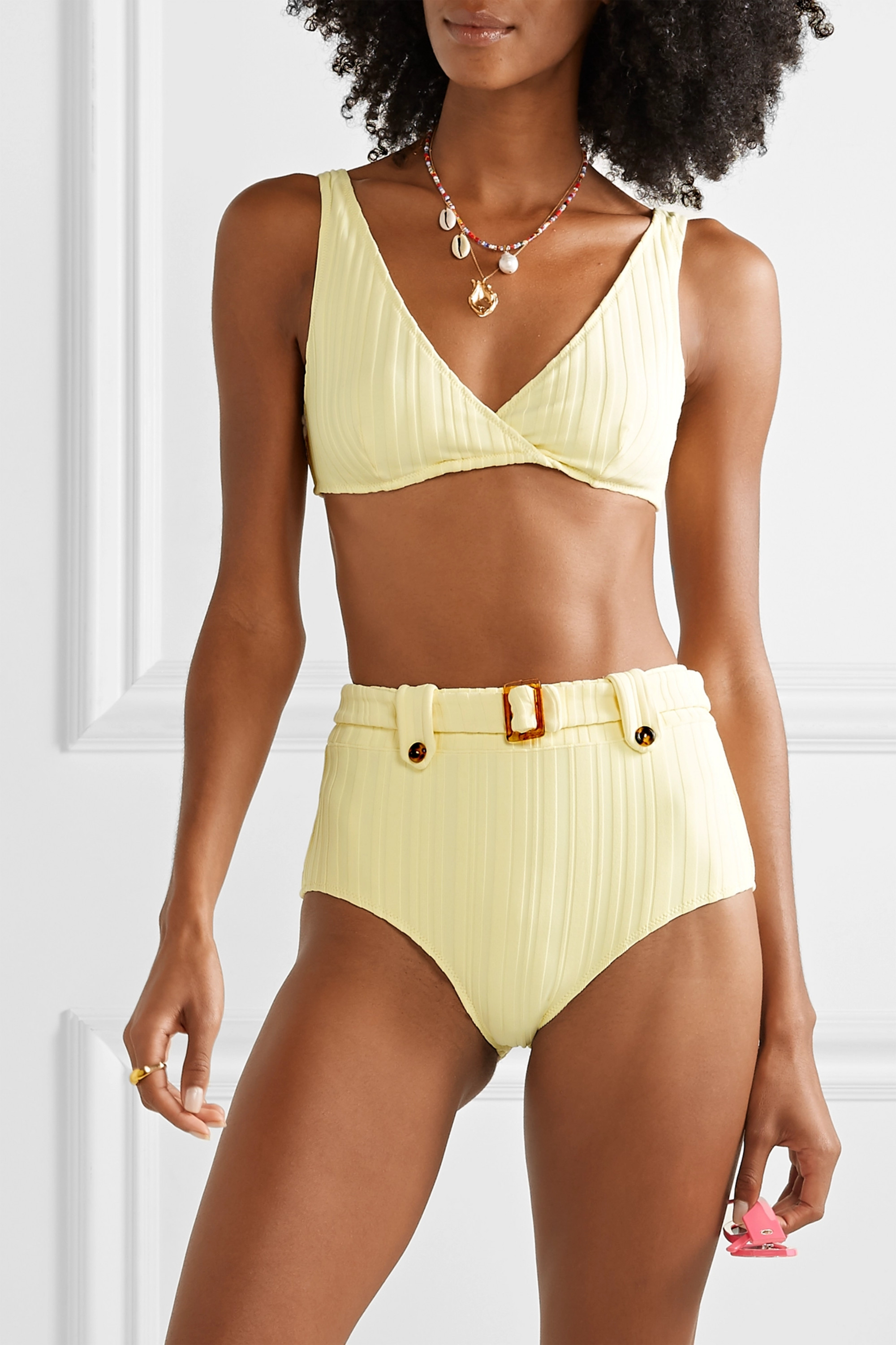 Solid & Striped The Annie ribbed bikini top