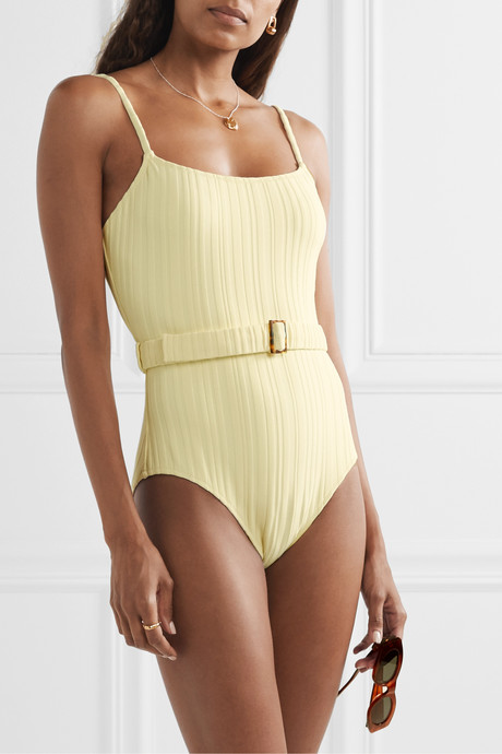 The Nina belted ribbed swimsuit