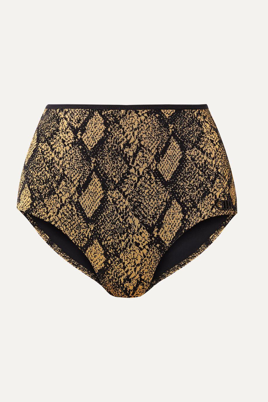 Solid & Striped The Brigitte stretch jacquard-knit bikini briefs
