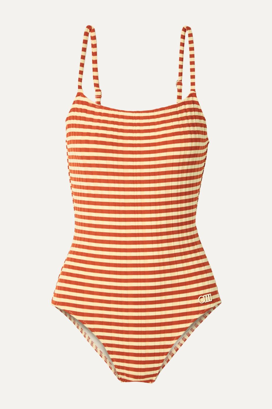 Solid & Striped The Nina striped ribbed swimsuit