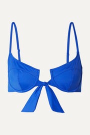 Solid & Striped The Zoey tie-front underwired bikini top