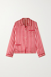 Ruthie striped satin pajama shirt