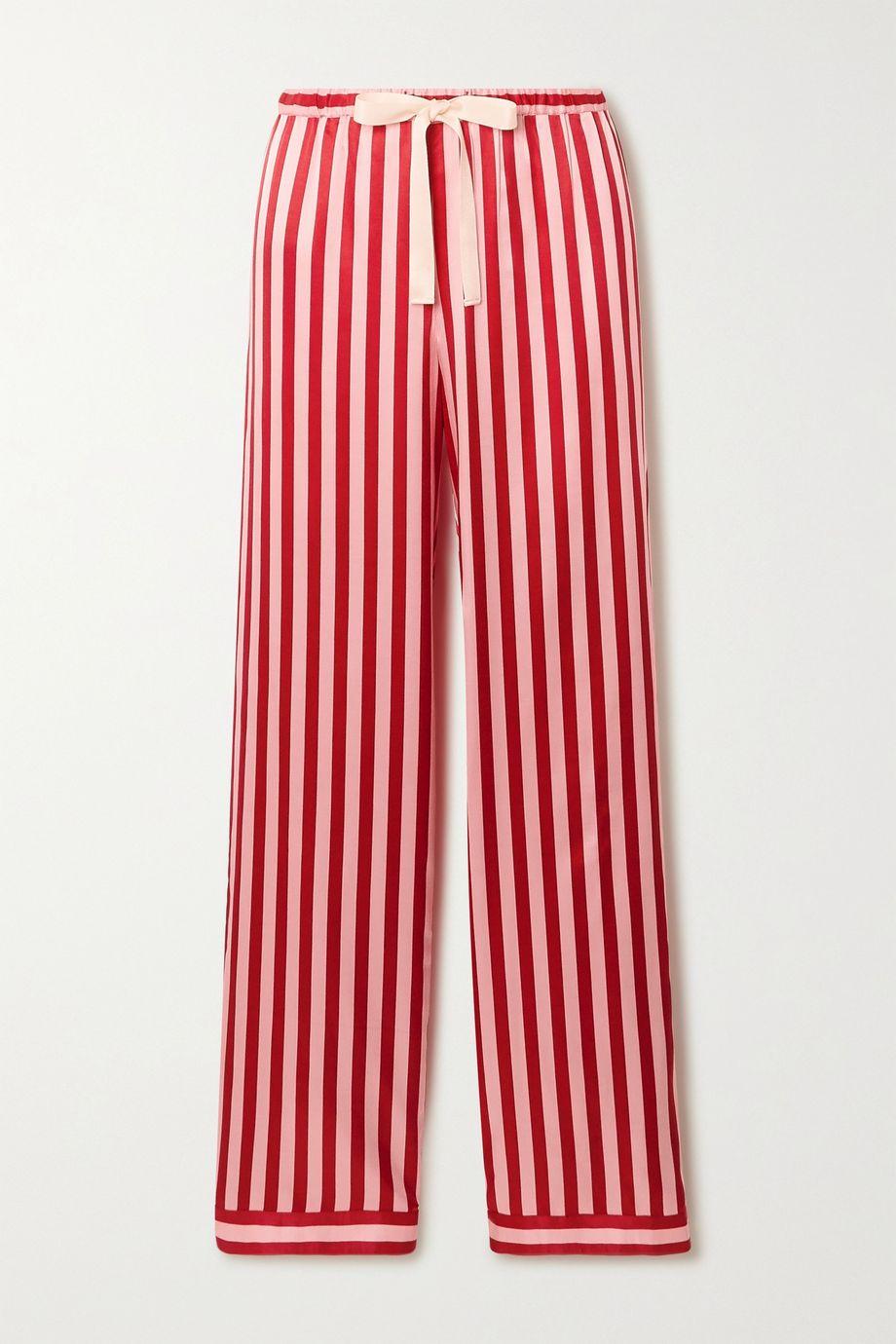 Morgan Lane Chantal striped satin pajama pants