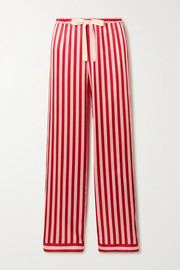 Chantal striped satin pajama pants