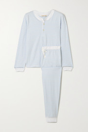 Morgan Lane Kaia striped stretch-cotton jersey pajama set