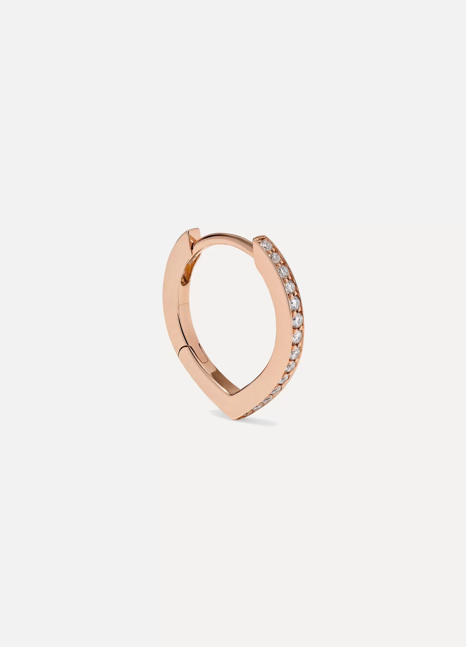Repossi Antifer 18-karat rose gold diamond earring