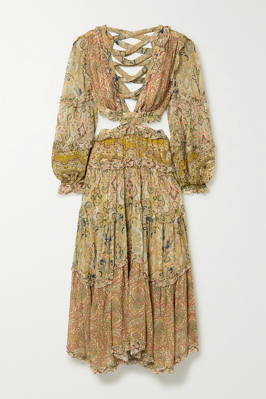 Zimmermann | Freja cutout paisley-print georgette maxi dress | NET-A-PORTER.COM