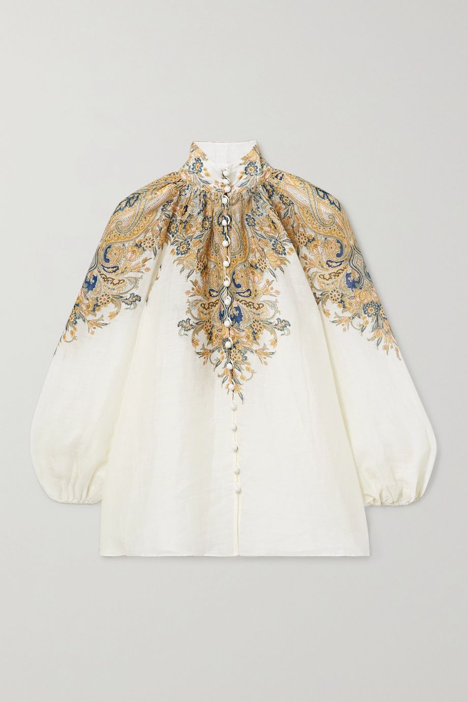 Zimmermann Freja paisley-print ramie blouse