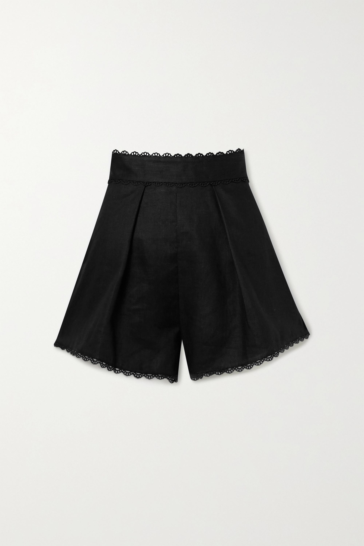 Zimmermann Kirra crochet-trimmed linen shorts