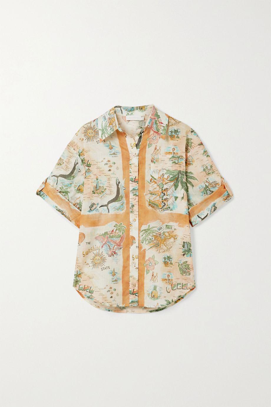 Zimmermann Kirra printed cotton-voile shirt