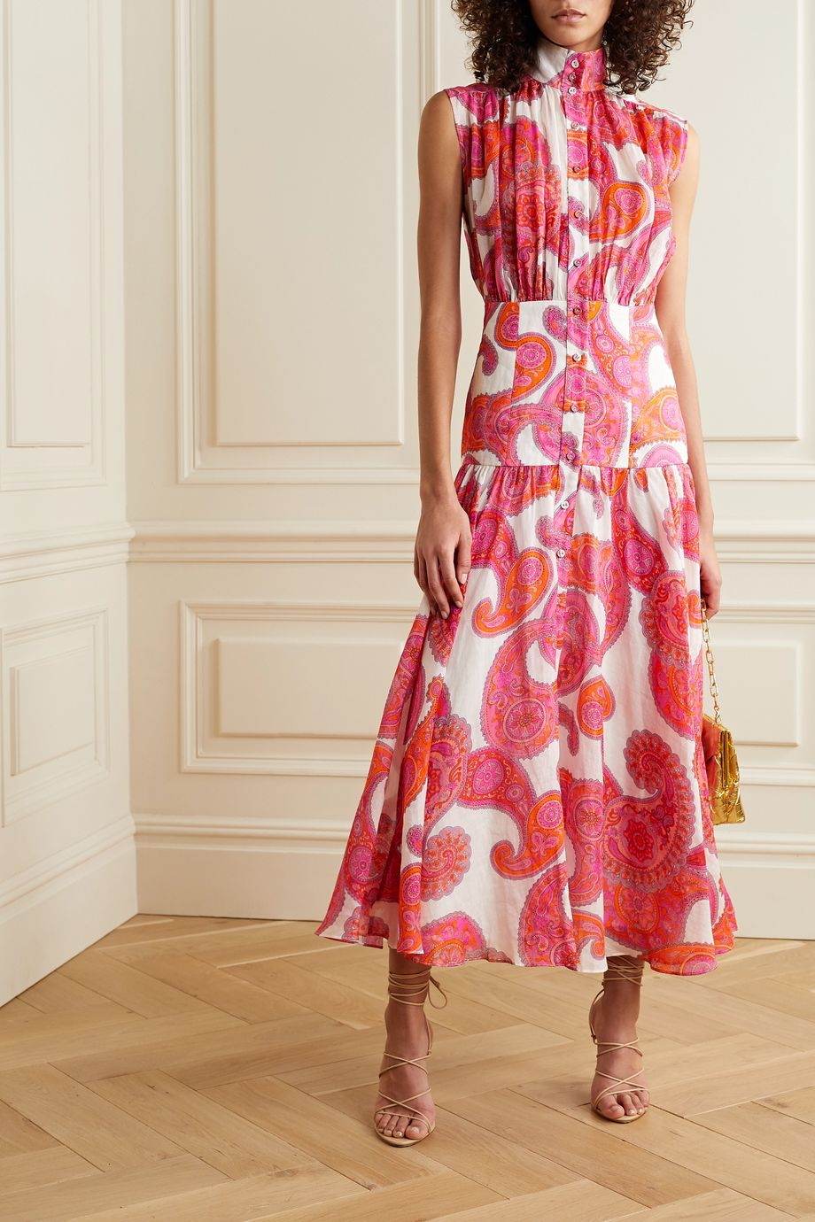 Zimmermann Peggy paisley-print ramie midi dress