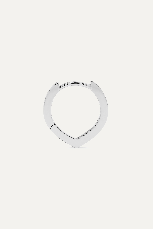 Repossi Boucle d'oreille en or blanc 18 carats et diamants Antifer