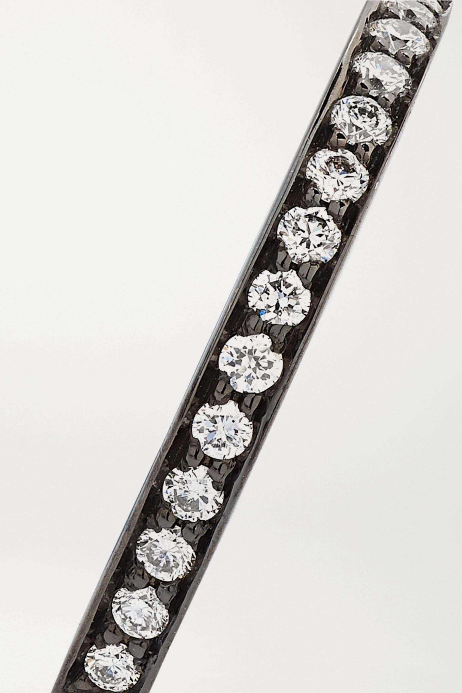 Repossi Antifer Creole aus geschwärztem 18 Karat Gold mit Diamanten